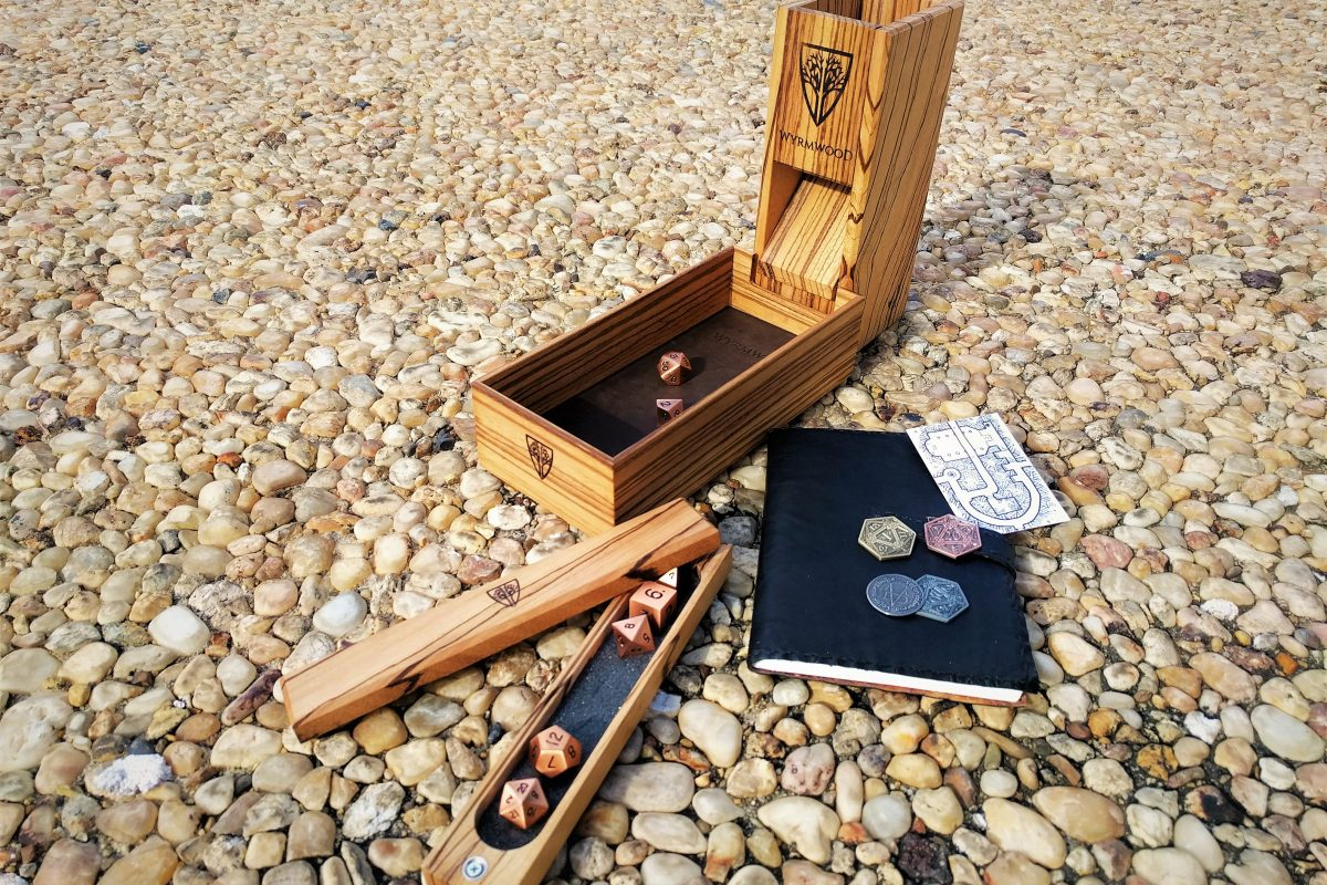 Wyrmwood Gaming Review: Complete Zebrawood Dice Tower System